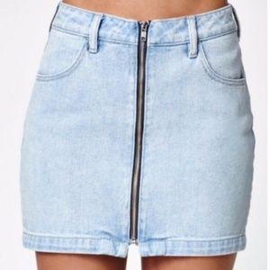 Kendall & Kylie Denim Mini Skirt